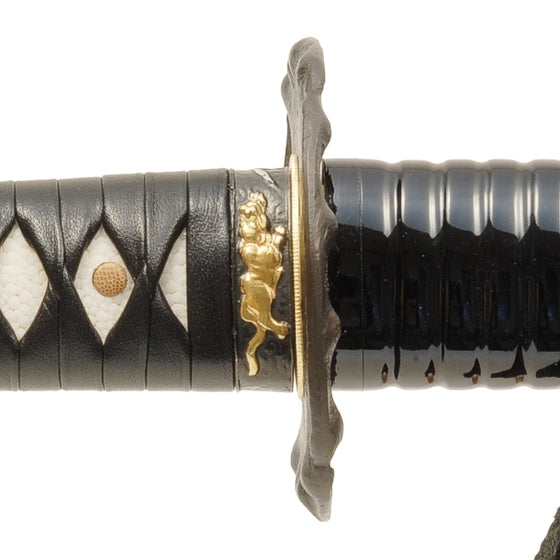 Close-up of the Tsuba area