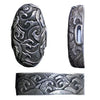 The pure silver version of the hiranami fuchi and kashira.