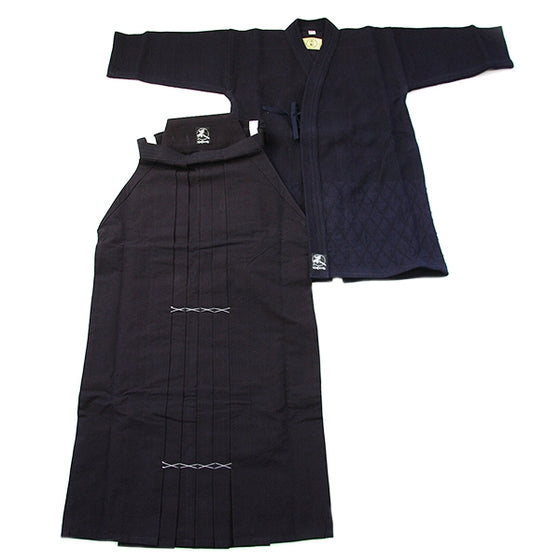 The double-layer and #10000 hakama seen flat together.
