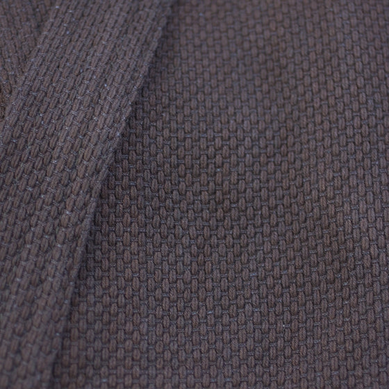 Close-up of the double-latered dogi's sashiko weave.