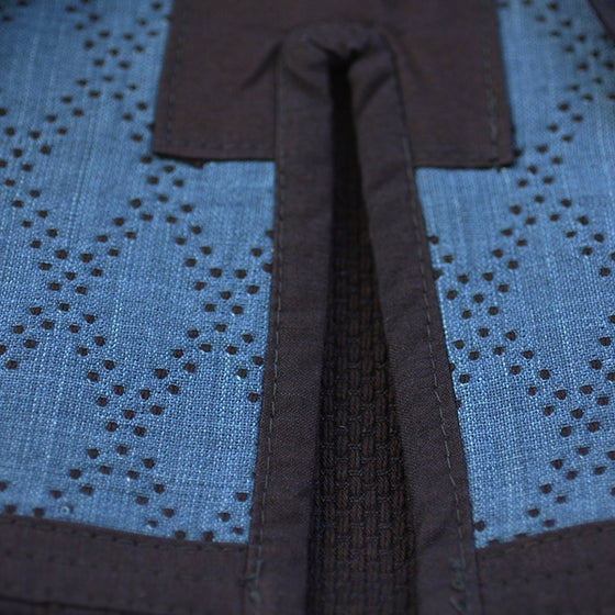 A close-up of the double-layered dogi's inner lining.