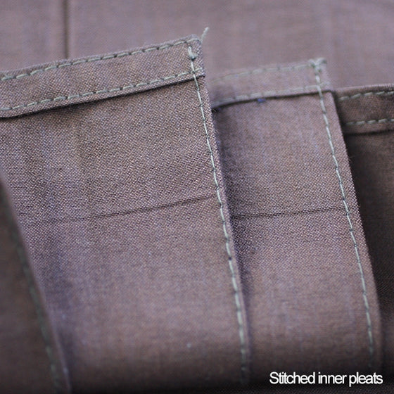 Close-up of the #10000 hakama's stitched pleats and hem.