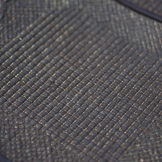 Close-up of the gakuzashi stitching.