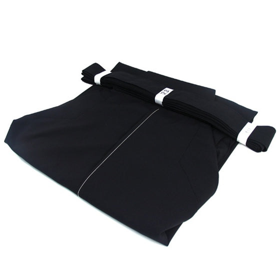 View of the furyu hakama folded up.