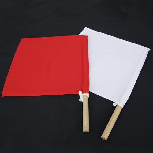 The flags used by the referees known as shinpanki.