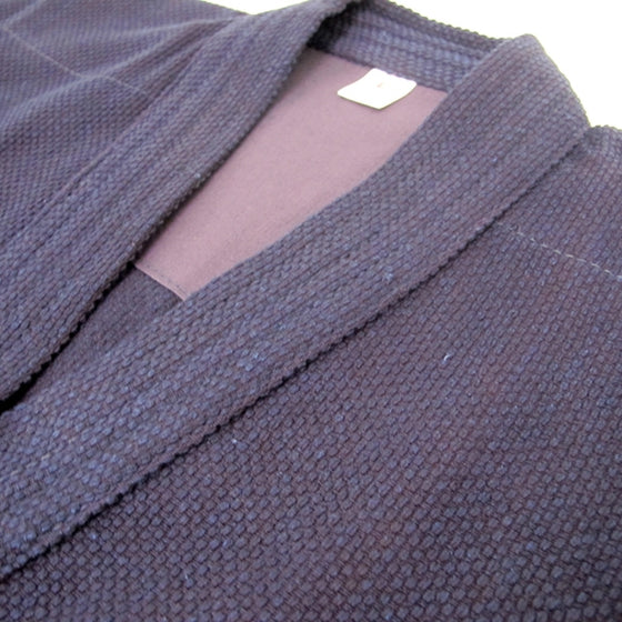 Close-up of the single-layer dogi collar.