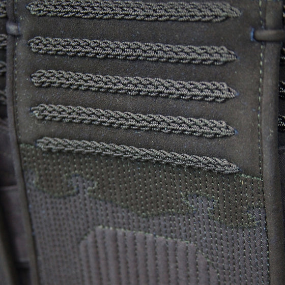 Close-up of the deerskin reinforcement on the kyokuho tare.