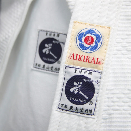 Close-up of the tozando and aikikai tags.