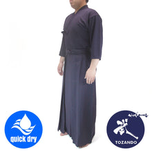 Full view of the kendo uniform worn.