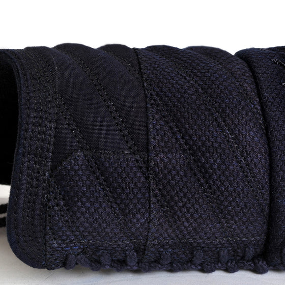 Tornado-stitch kendo futon seen up-close.