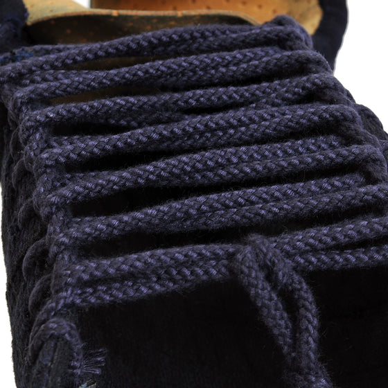 View of the kote-himo laces that keep the kote together.