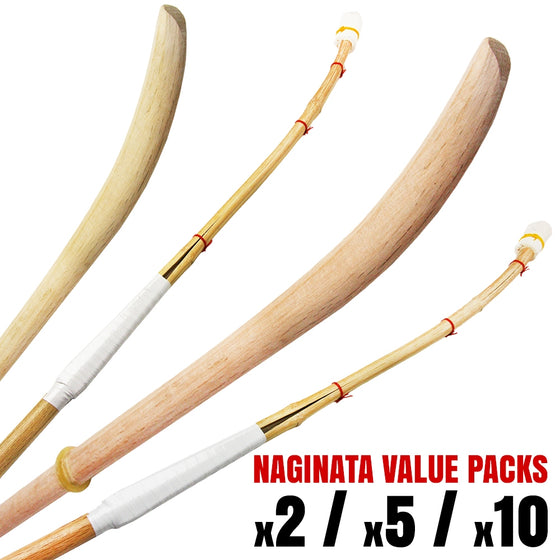 A selection of naginata avialable in the value packs.