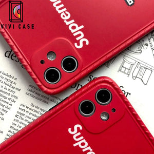 supreme Style Silica gel  Protective Designer Iphone Case For Iphone 12 Pro Max Mini.