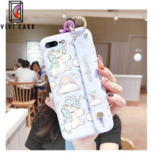 Load image into Gallery viewer, Best Luxury Style Unicorn Wristband Silica Gel Designer iPhone Case For Iphone 11 Pro Max X XS XS MAX XR 7 8 Plus.