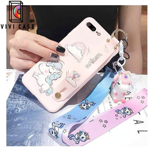 Best Luxury Style Unicorn Wristband Silica Gel Designer iPhone Case For Iphone 11 Pro Max X XS XS MAX XR 7 8 Plus.