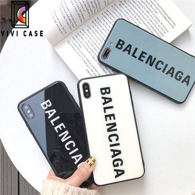 Best Stylish Balenciaga Paris Sports Tempered Glass Designer iPhone Case For iPhone 11 Pro Max X XS Max XR 7 8 Plus.