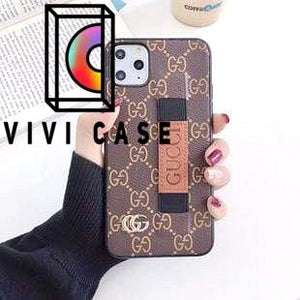 Fashion Gucci Style Wrist Band Imitation Leather Designer iPhone Case For Iphone 11 Pro Max X XS XS MAX XR 7 8 Plus.