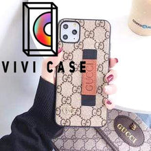 Load image into Gallery viewer, Fashion Gucci Style Wrist Band Imitation Leather Designer iPhone Case For Iphone 11 Pro Max X XS XS MAX XR 7 8 Plus.