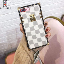 Load image into Gallery viewer, Fashion  Louis Vuitton LV Style Plaid  All-inclusive Leather Designer iPhone Case For Iphone 11 Pro Max X XS XS MAX XR 7 8 Plus.