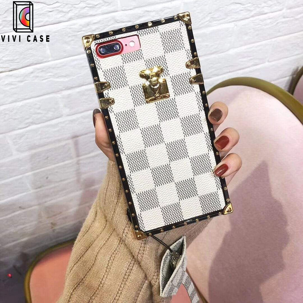 Fashion  Louis Vuitton LV Style Plaid  All-inclusive Leather Designer iPhone Case For Iphone 11 Pro Max X XS XS MAX XR 7 8 Plus.