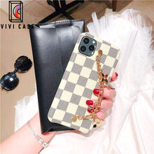 Load image into Gallery viewer, Fashion Louis Vuitton LV Style Plaid  Four-Leaf Clover Bracelet Designer iPhone Case For Iphone 11 Pro Max X XS XS MAX XR 7 8 Plus.