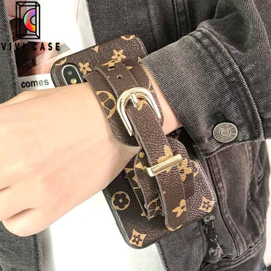Fashion Louis Vuitton LV Style Wristband Imitation Leather Designer iPhone Case For Iphone 11 Pro Max X XS XS MAX XR 7 8 Plus.