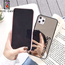 Load image into Gallery viewer, Fashion Supreme Style Mirror Silica Gel Designer iPhone Case For Iphone 11 Pro Max X XS XS MAX XR 7 8 Plus.
