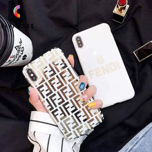 Load image into Gallery viewer, Fendi Style Electroplating Glossy TPU Silicone Designer iPhone Case For iPhone 11 Pro Max X XS XS Max XR 7 8 Plus.