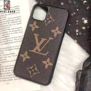 Louis Vuitton Style Classic Monogram Leather Designer iPhone Case For iPhone 11 Pro Max X XS XS Max XR 7 8 Plus.