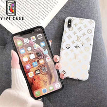 Load image into Gallery viewer, Louis Vuitton Style Monogram Electroplating Glossy TPU Silicone Designer iPhone Case For iPhone 11 Pro Max X XS XS Max XR 7 8 Plus.