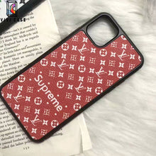 Load image into Gallery viewer, Supreme x Louis Vuitton Style Leather Designer iPhone Case For iPhone 11 Pro Max X XS XS Max XR 7 8 Plus.