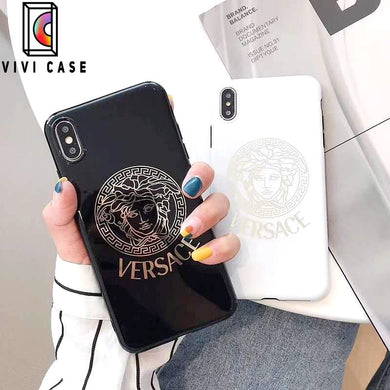 Versace Style Electroplating Glossy TPU Silicone Designer iPhone Case For iPhone 11 Pro Max X XS XS Max XR 7 8 Plus.