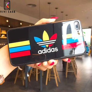 Adidas Logo Originals Tempered Glass Designer iPhone Case.