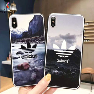 Adidas Style Original Matte Silicone Designer iPhone Case For iPhone X XS XS Max XR 7 8 Plus.