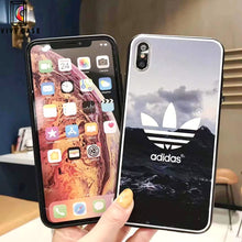 Load image into Gallery viewer, Adidas Style Original Matte Silicone Designer iPhone Case For iPhone X XS XS Max XR 7 8 Plus.