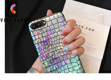 Load image into Gallery viewer, Laser Shinning Leather Shockproof Luxury Bumper Designer iPhone Case.
