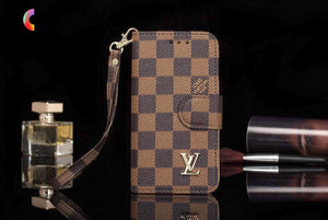Louis Vuitton Style Damier Wallet Magnetic Cardholder iPhone Case For iPhone X XS XS Max XR 7 8 Plus.
