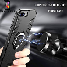 Load image into Gallery viewer, Metal Ring Kickstand Shockproof Anti-Fall Magnetic Car Holder Armor Bu.