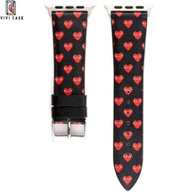 Load image into Gallery viewer, Comme Des Garcons CDG Style Leather Apple Watch Bands Strap.