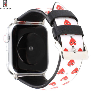 Comme Des Garcons CDG Style Leather Apple Watch Bands Strap.