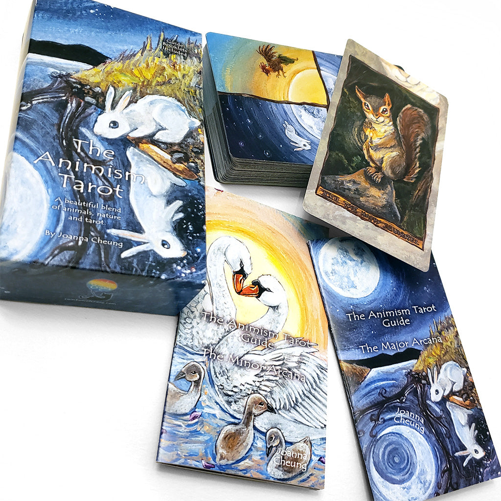 Animism Tarot is an animal based tarot deck that includes two guide booklets