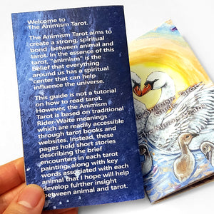 The back of the Animism Tarot booklets includes a small introduction to this animal world.