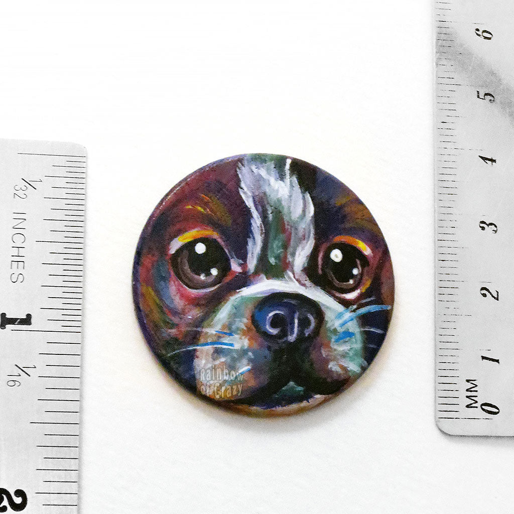 Austin the Boston Terrier - Keepsake / Necklace (Wood)