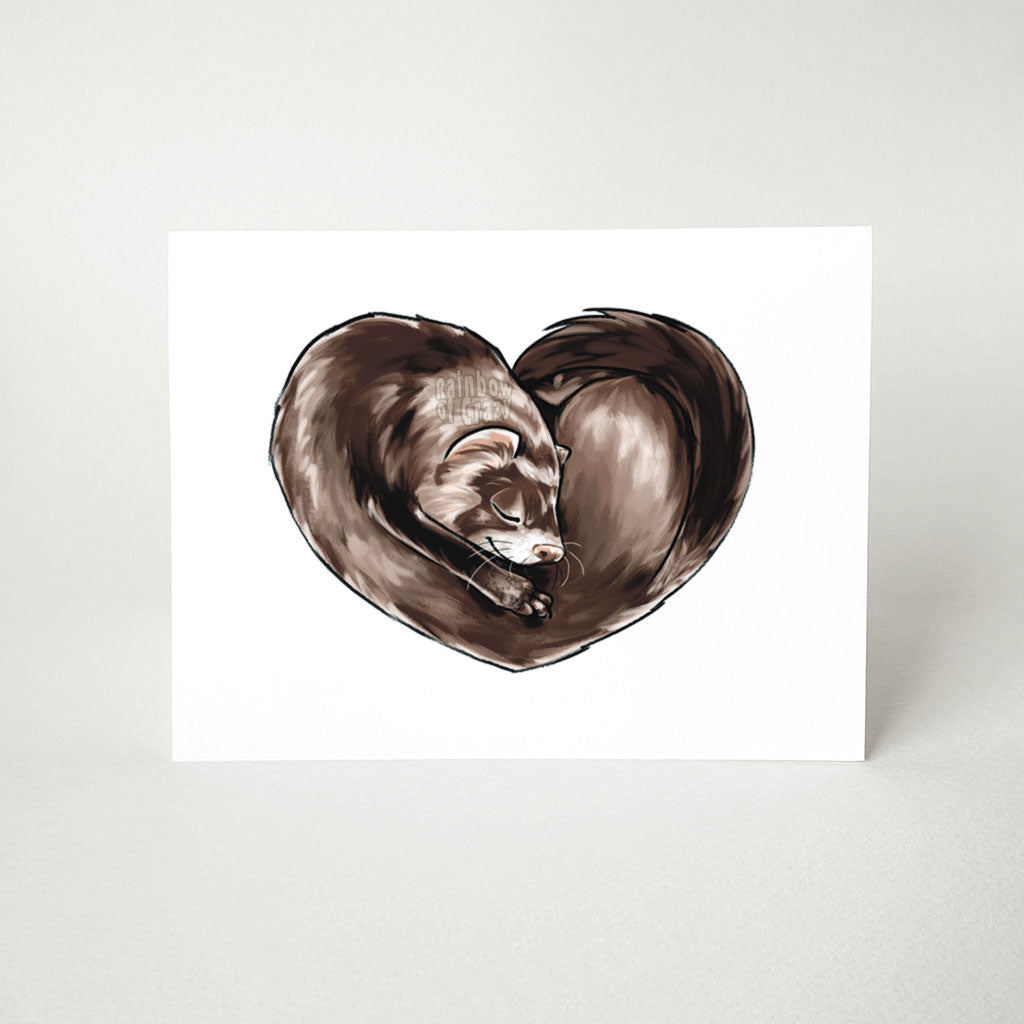 Ferret Heart - Greeting Card