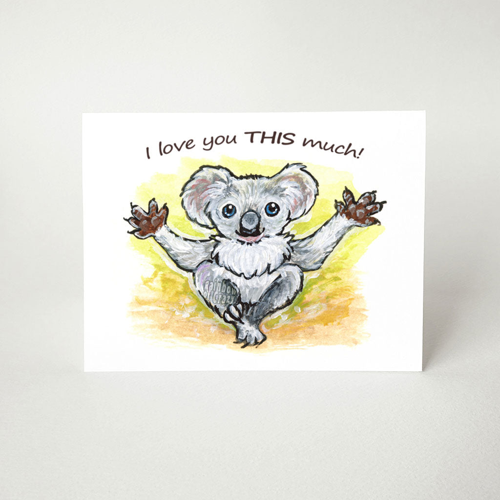 Koala / I Love You This Much - Greeting Card