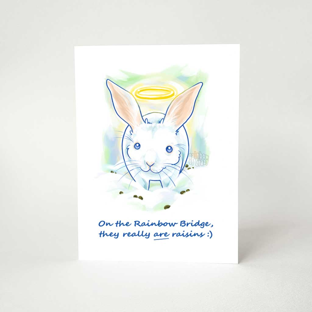 Rabbit Angel - Greeting Card