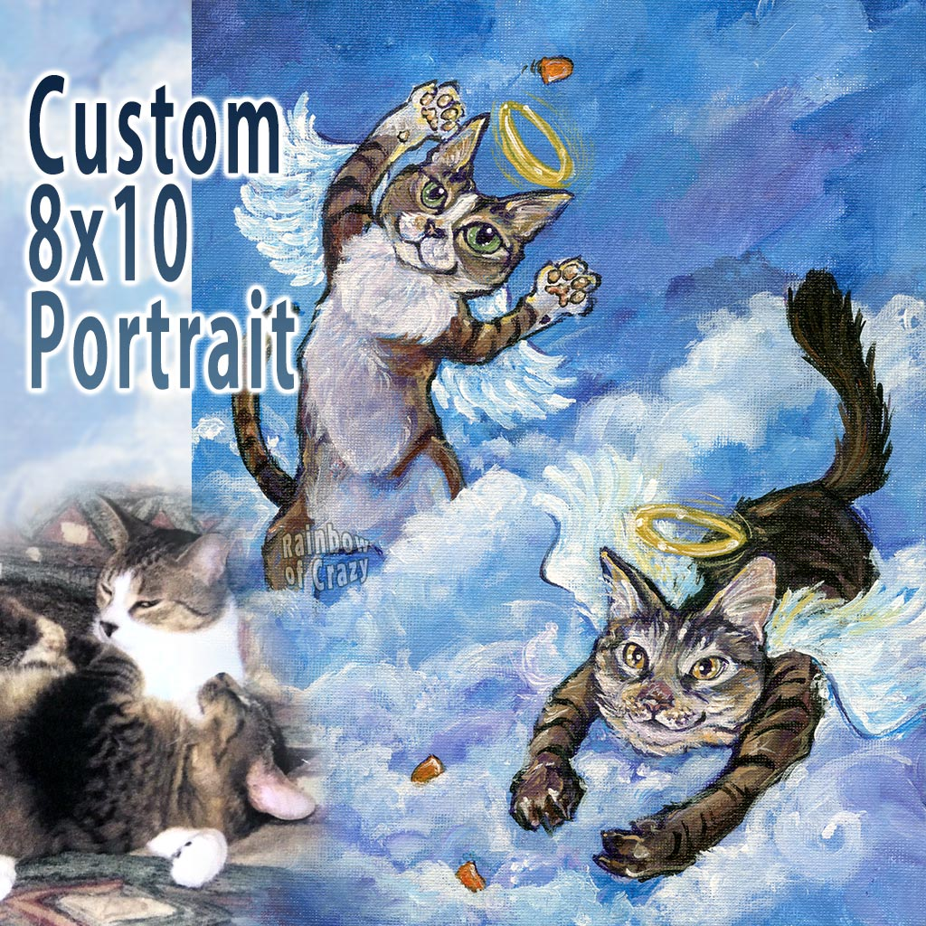 Custom Pet Portrait - 8x10 Canvas