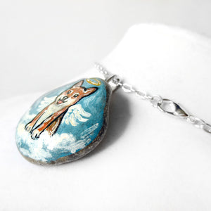 Shiba Angel - Rock Art / Necklace