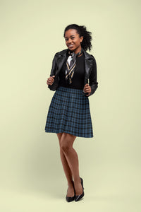 Rockstar Tartan Skater Skirt for Women