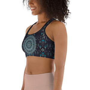 aztec-mandala-geometric-navy-blue-jade-green-padded-sports-bra